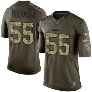 Nike 49ers #55 Ahmad Brooks Green Men's Stitched NFL Limited Salute to Service Jersey
